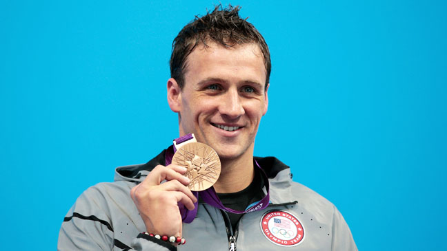 Ryan Lochte with Gold Medal - H 2012