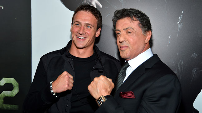 Ryan Lochte Sylvester Stallone Expendables 2 Premiere - H 2012