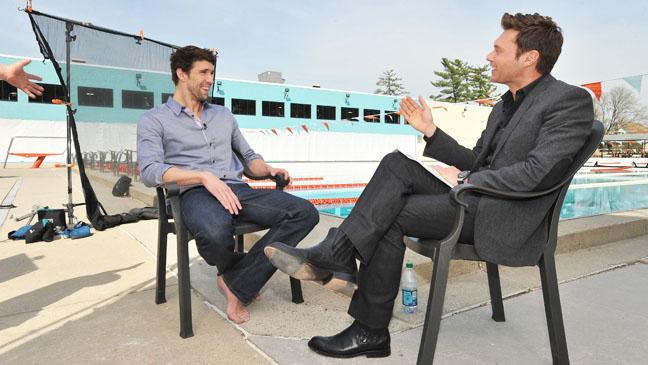 Summer Olympics Ryan Seacrest Interveiwing Phelps - H 2012