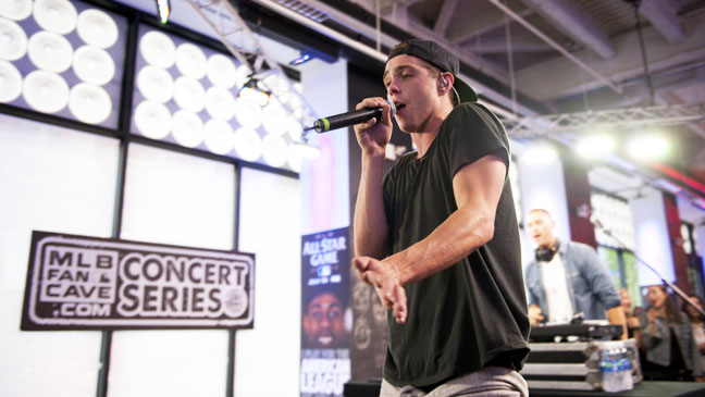 Sammy Adams Performing at MLB Fan Cave - H 2012