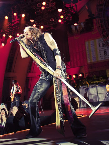 Steven Tyler Aerosmith Hollywood Bowl - P 2012