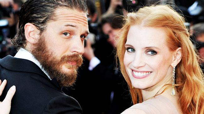 Jessica Chastain Tom Hardy at Cannes - H 2012