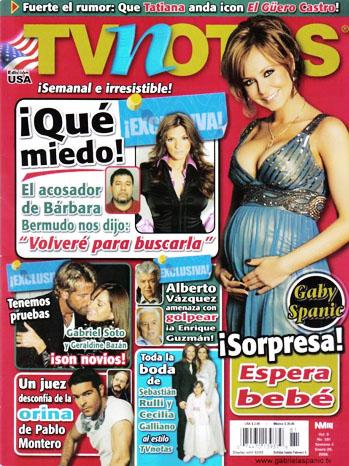 TV Notas magazine Cover - P 2012