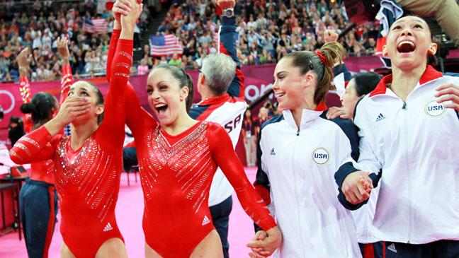 Summer Olympics US Girls Gymnastics Win - H 2012