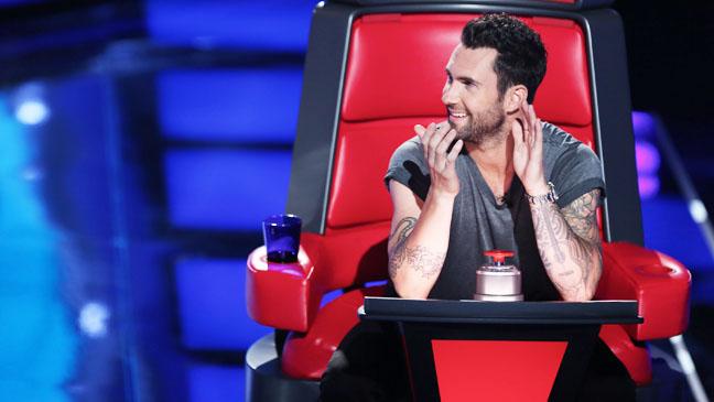 The Voice Adam Levine in Judge's Chair - H 2012