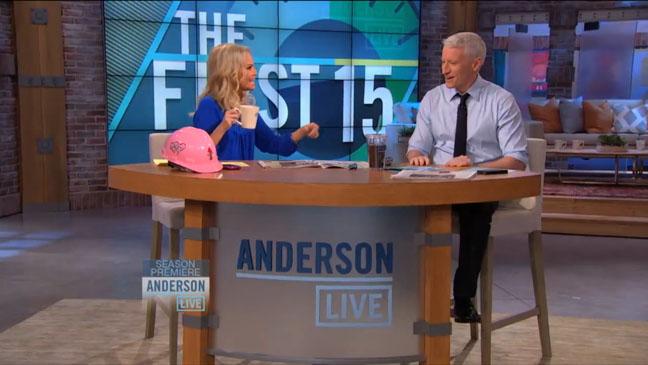 Anderson Cooper Live Screengrab - H 2012