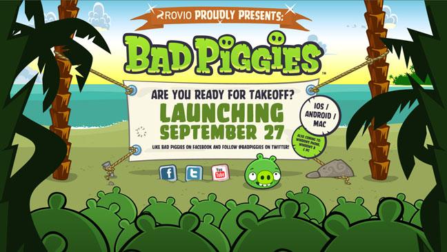Bad Piggies Announcement - H 2012