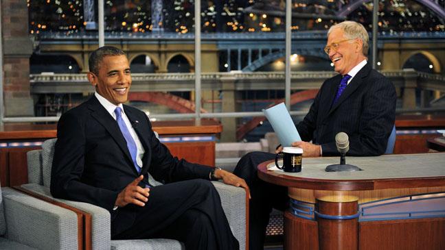 Barack Obama David Letterman - H 2012