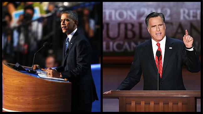 Barack Obama Mitt Romney National Conventions - H 2012