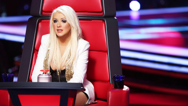 The Voice Christina Aguilera in Judge's Chair - H 2012
