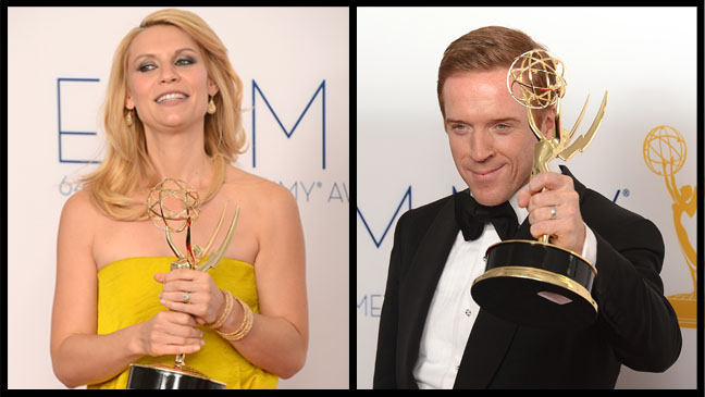 Claire Danes Damien Lewis Emmys 2012 Split - H 2012