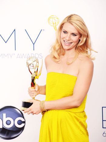 Claire Danes with Emmy Award - P 2012