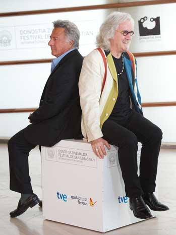 Dustin Hoffman and Billy Connolly at San Sebastian Quartet