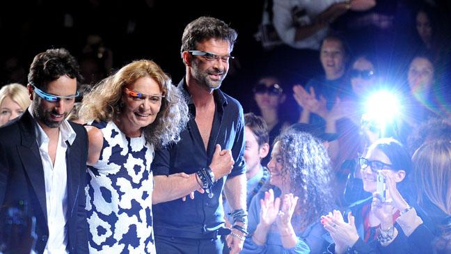 Sergey Brin Diane Von Furstenberg Yvan Mispelaere Google Glass - H 2012