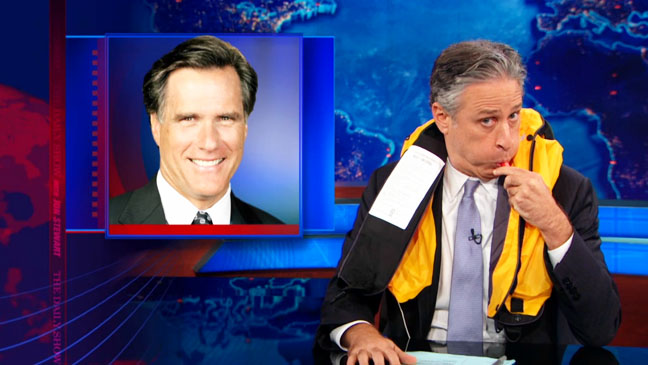 Mitt Romney Bed Head Daily Show with John Stewart - H 2012