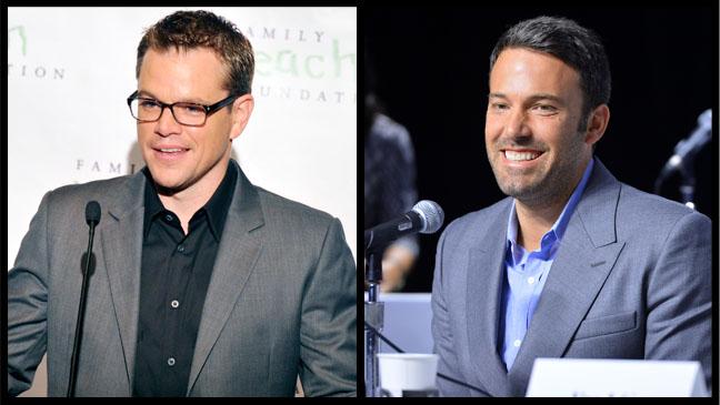 Matt Damon Ben Affleck Split - H 2012
