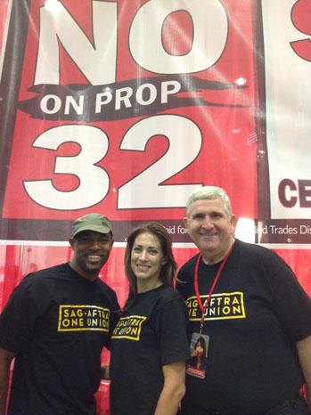 No on Prop 32 Rally SAg AFTRA Members - P 2012