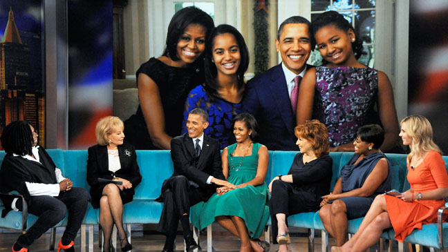 The Obamas on The View - H 2012