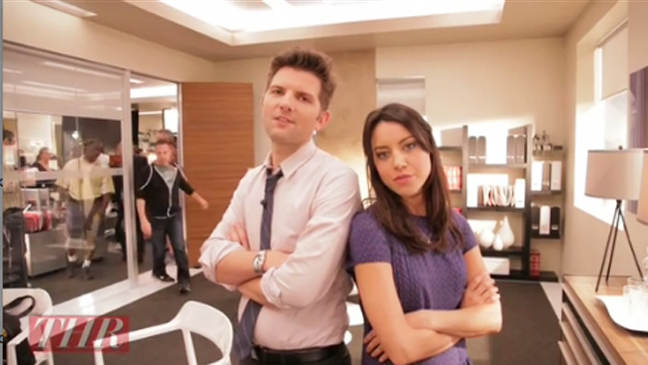 Aubrey Plaza & Adam Scott Goes Behind the Scenes at 'Parks and Recreation' | Hot Set!