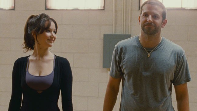 Silver Linings Playbook - film still - Jennifer Lawrence and Bradley Cooper