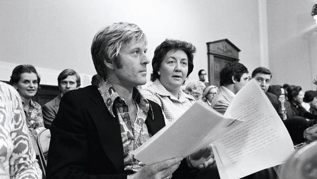 Robert Redford and Lois Smith in 1974