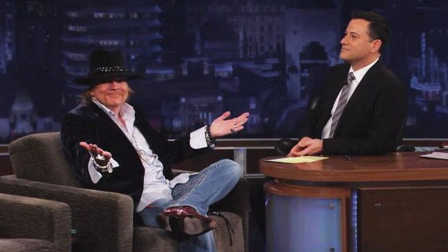 Axl Rose on Jimmy Kimmel Live - H 2012