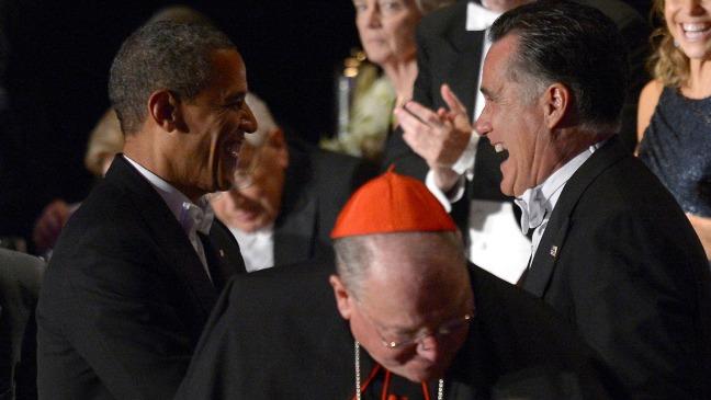 Barack Obama Mitt Romney Charity Dinner - H 2012