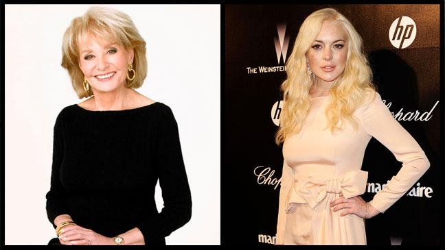 Barbara Walters Lindsay Lohan Split - H 2012