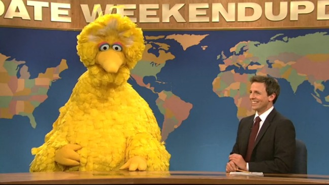 Big Bird Seth Meyers SNL - H 2012