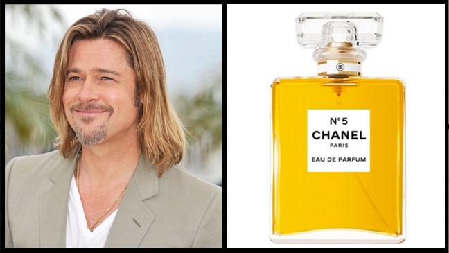 Brad Pitt Chanel No5
