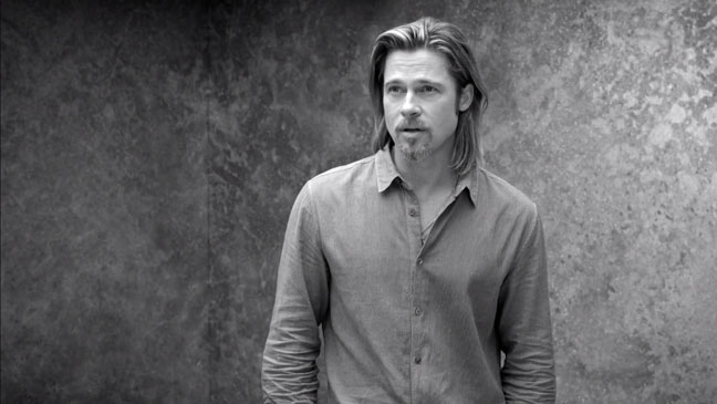Brad Pitt Chanel Ad Screengrab - H 2012