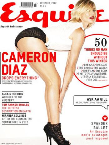 Cameron Diaz Esquire November Cover - P 2012