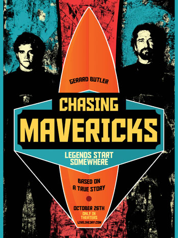 Chasing Mavericks One Sheet - P 2012