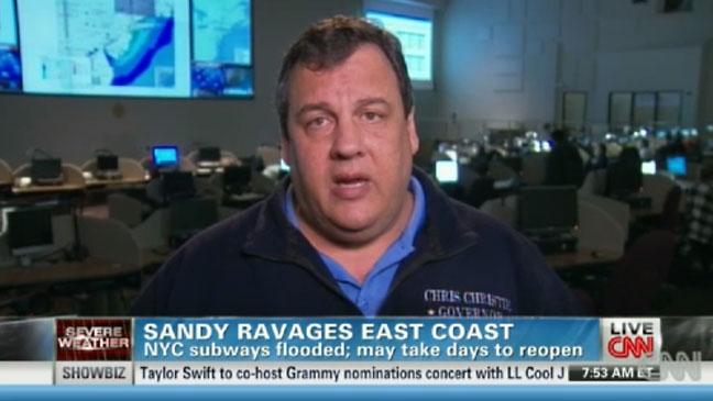 Chris Christie CNN Hurricane Sandy Coverage - H 2012