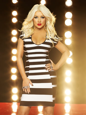 The Voice Christina Aguilera Black/White Dress PR - P 2012