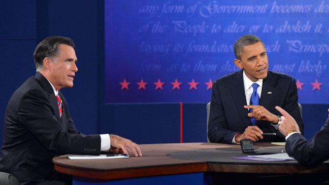 Presidential Debate Obama Point - H 2012