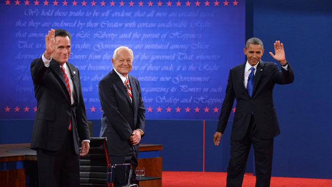 Presidential Debate Candidates Wave - H 2012