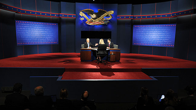 Vice Presidential Debate Joe Biden Paul Ryan Wide Shot - H 2012