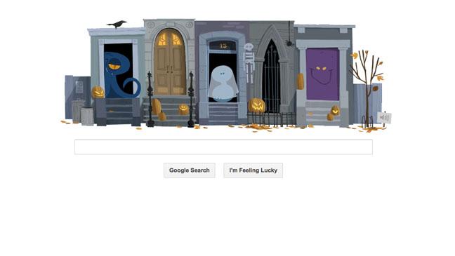 Google Doodle Halloween - H 2012