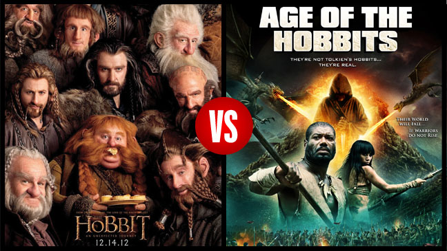 The Hobbits Key Art VS. Age of Hobbits Key Split - H 2012