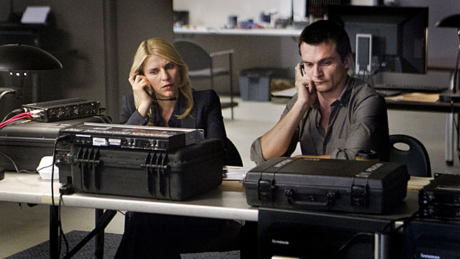 Homeland TV Still Claire Danes Table - H 2012