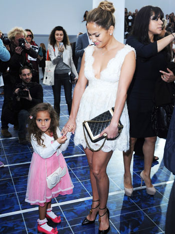 Jennifer Lopez Daughter Emme Paris Fashion Week - P 2012