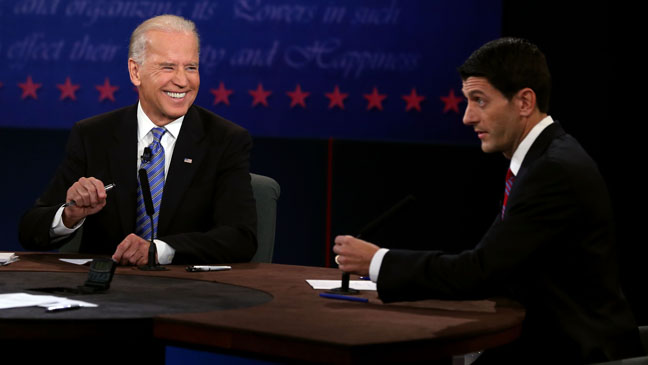 Vice Presidential Debate Joe Biden Laughing - H 2012