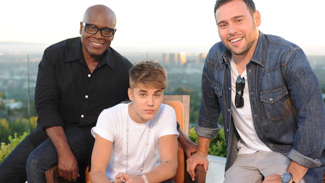 LA Reid Justin Bieber Scooter Braun L