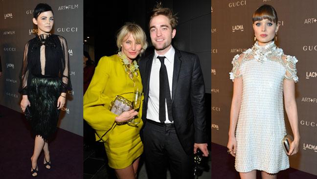 LACMA - Ginnifer Goodwin, Cameron Diaz, Robert Pattinson and Bella Heathcote in Gucci