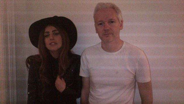 Lady Gaga with Assange  - H 2012