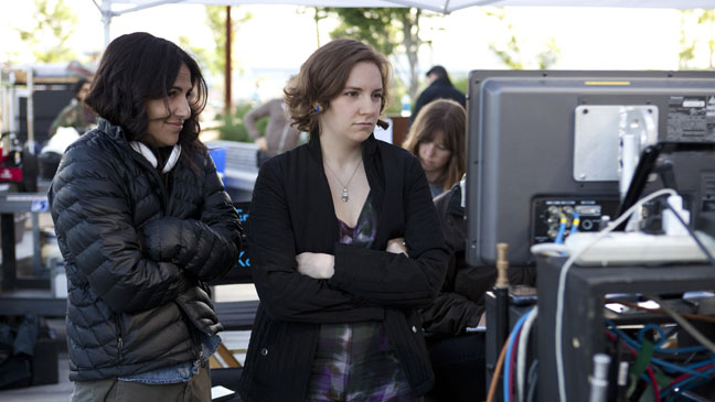 Issue 35 FEA Lena Dunham on Set of Girls - H 2012