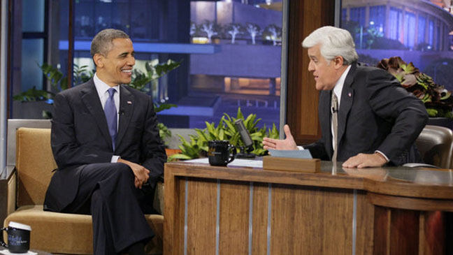 Obama with Leno on The Tonight Show - H 2012