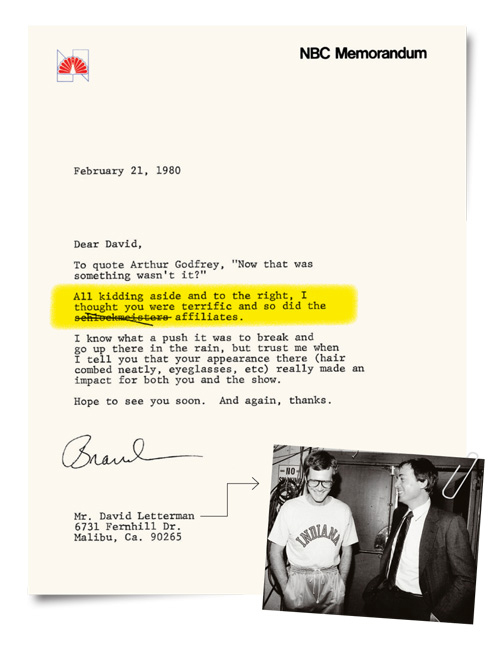 2012-37 REP Tartikoff Letter David Letterman P IPAD