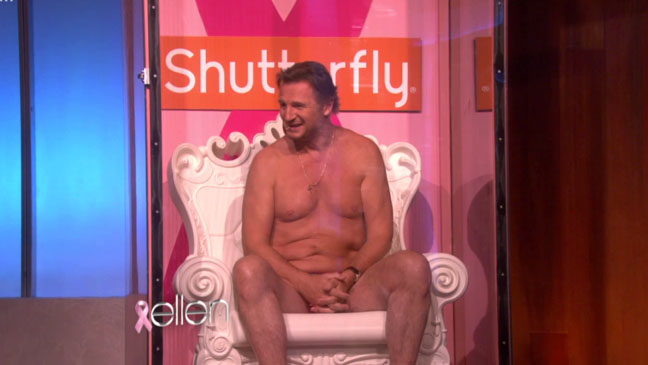 Liam Neeson Nearly Naked Ellen Show - H 2012